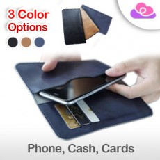 """ROCK Original Universal Multifunctional All-in-One Wallet Phone Sleeve Case Pouch Cover - For 4.3"""" -6"""" Smartphone 手机收纳钱包保护套 /卡包 - 4.3寸-6寸智能手机适用"""